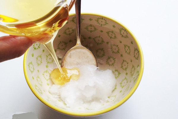 A Mixture Of Honey and Coconut Oil
