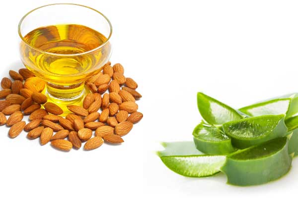 Aloe Vera Gel or Almond Oil
