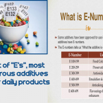 "The list of ""E's"", most dangerous additives in your daily products"