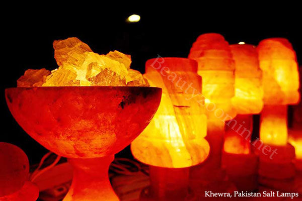 Khewra Pakistan Salt Lamps