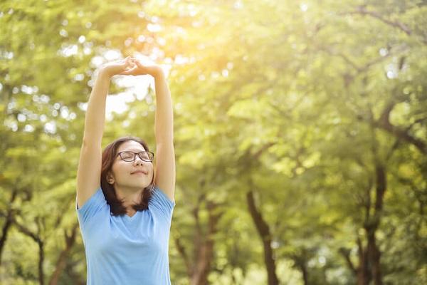 Yoga in fresh air