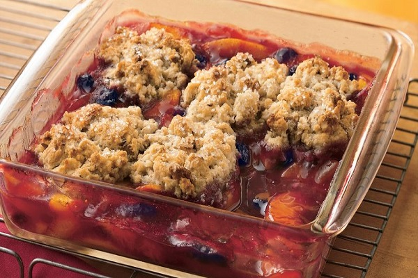 Peach and Blueberry cobblers
