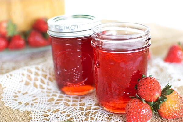 Strawberry and syrup
