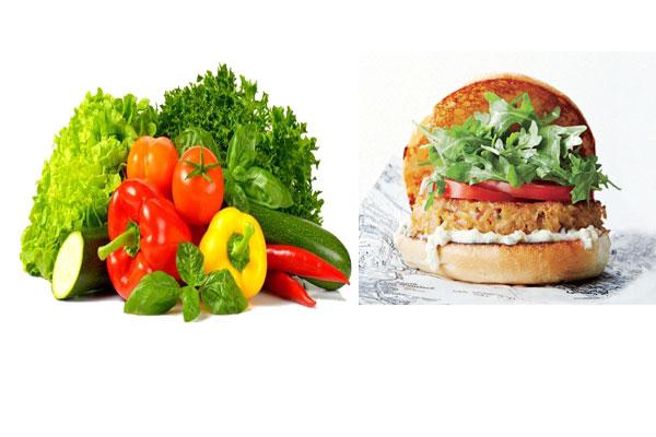burgers vegans