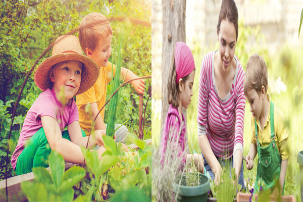 children grew after a lesson in nature