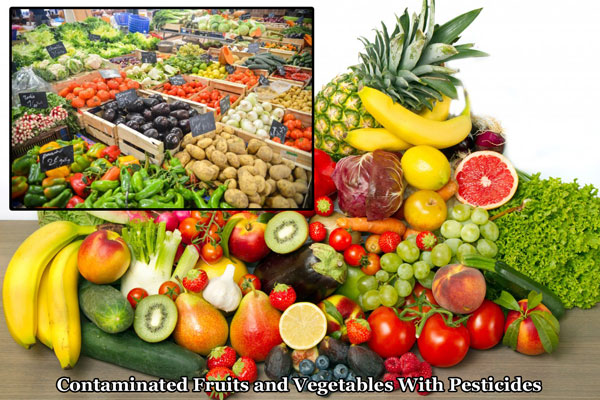 contaminated fruits and vegetables with pesticides