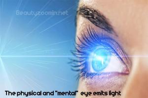 eye emits light
