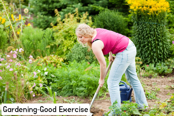 gardening considered good exercise