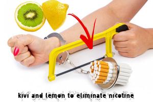 kivi and lemon to eliminate nicotine