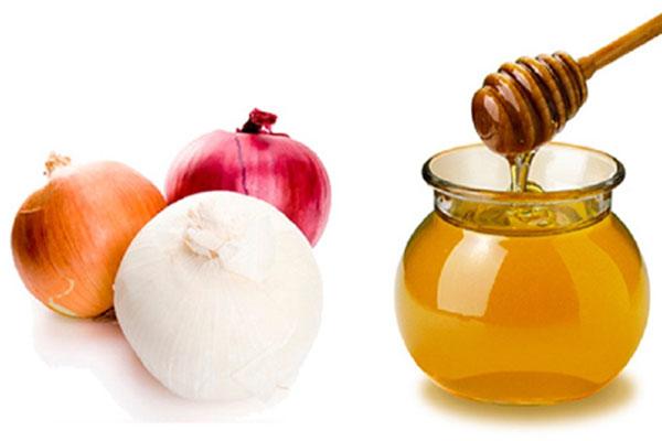 onion juice and honey