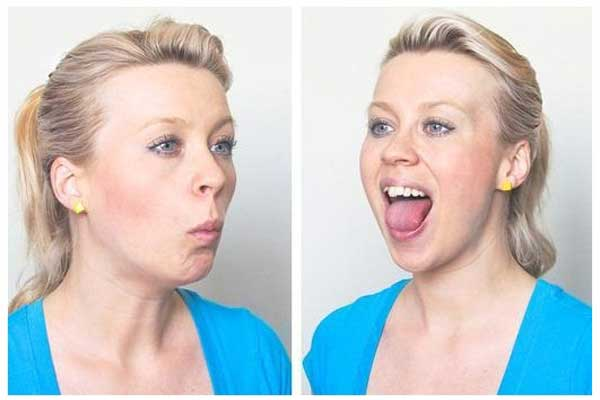 open close mouth exercise
