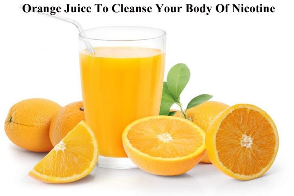 Orange juice to cleanse body