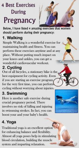 4 Best Exercises During Pregnancy