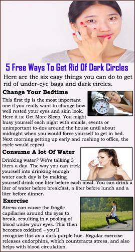 5 Free Ways To Get Rid Of Dark Circles