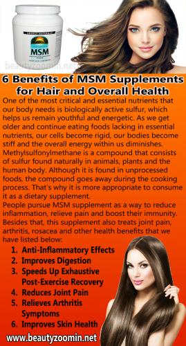 6 Benefits of MSM Supplements for Hair and Overall Health