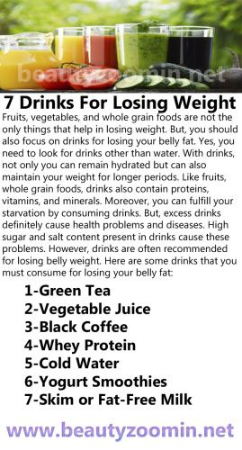7 Drinks For Losing Weight