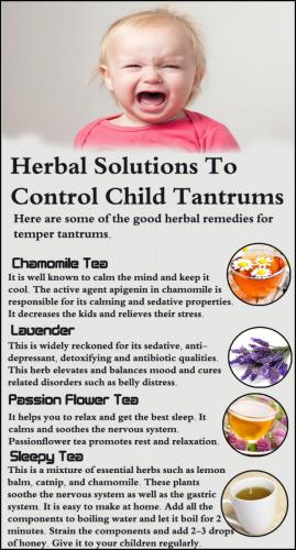 7 Herbal Solutions To Control Child Tantrums