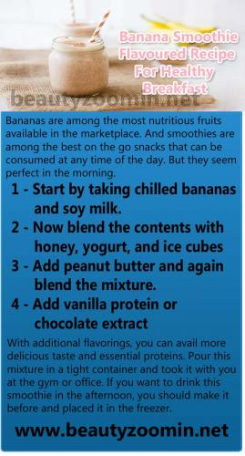 Banana Smoothie Flavoured Recipe For Healthy Breakfast