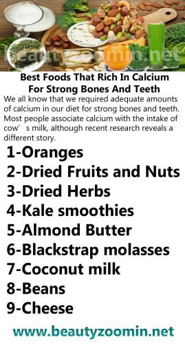 Best Foods That Rich In Calcium For Strong Bones And Teeth