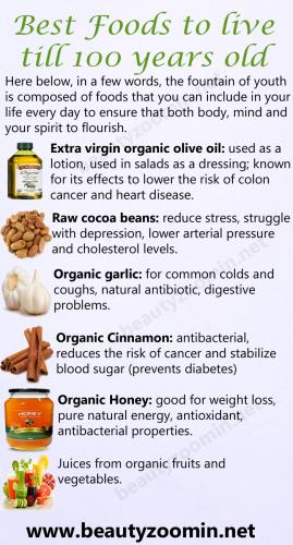 Best Foods to Live till 100 years old