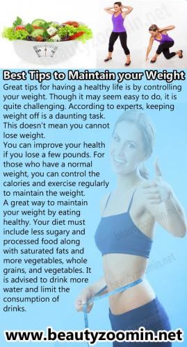 Best Tips to Maintain your Weight