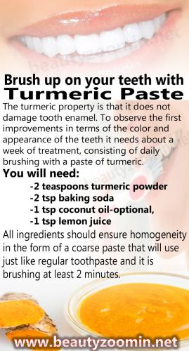 Brush up on your teeth with Turmeric Paste