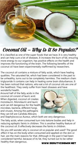 Coconut Oil – Why Is It So Popular (1)
