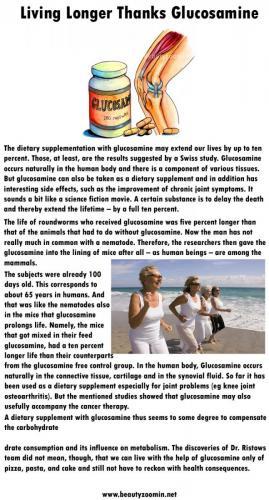 Living Longer Thanks Glucosamine