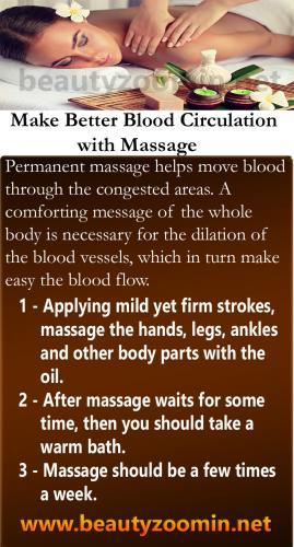 Make Better Blood Circulation with Massage