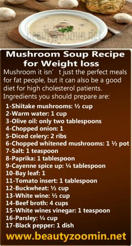 Mushroom Soup Recipe for weight loss