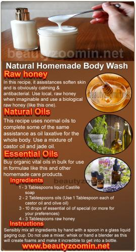 Natural Homemade Body Wash For You
