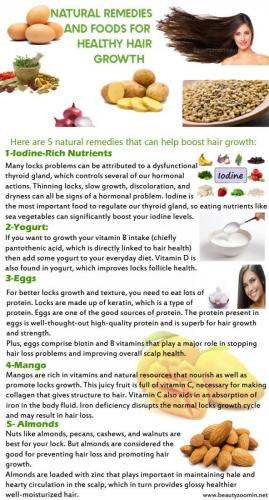 Natural Remedies And Foods For Healthy Hair Growth