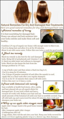 Natural Remedies For Dry And Damaged Hair Treatments