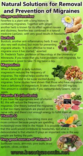 Natural Solutions for Removal and Prevention of Migraines