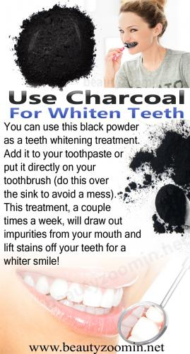 Use Charcoal for Whiten teeth