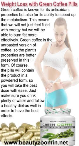 Weight Loss with Green Coffee Pills