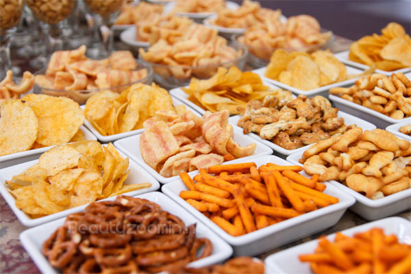 processed foods and snacks