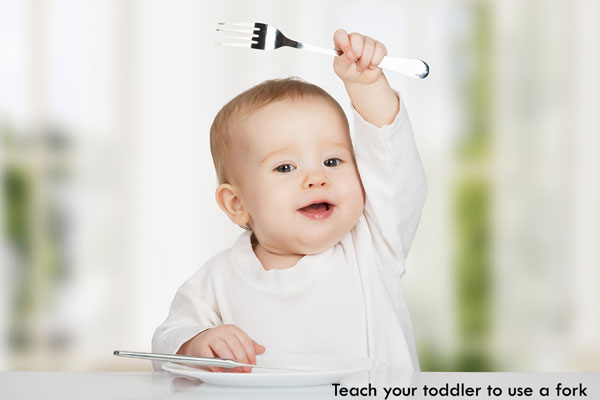 teach your toddler to use a fork