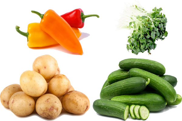 vegetables rich in silicon