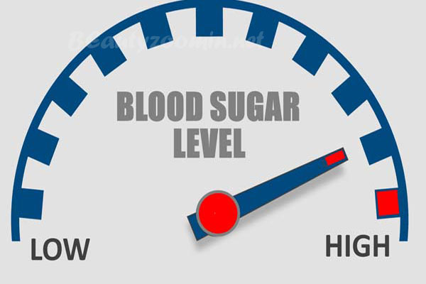 Blood sugar levels increase
