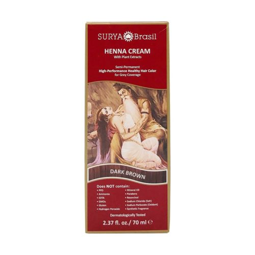Dark Brown Henna Cream, 2.37 fl oz