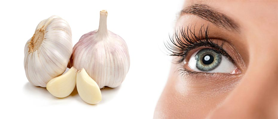 Eye Care with garlic
