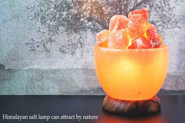 Himalayan salt lamp can attract by nature