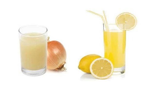 Onion and Lemon Juice