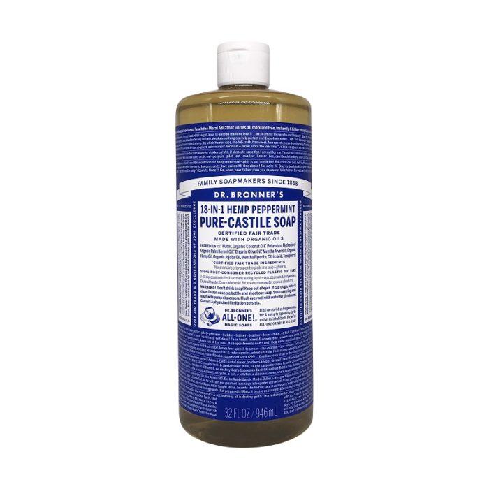 Organic Castile Peppermint Liquid Soap, 32 fl oz