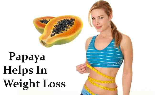 Papayas help in Losing Weight