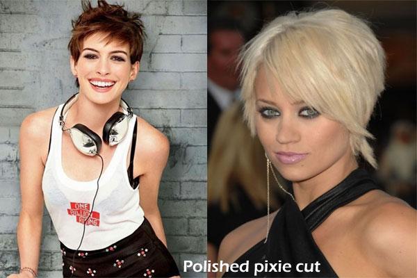 Polished pixie haircut