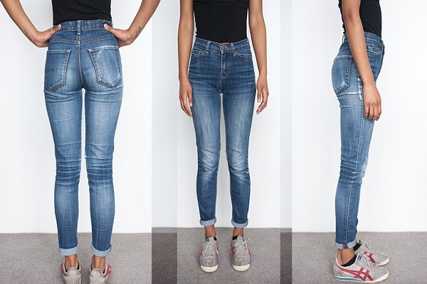 Tight jeans fit look