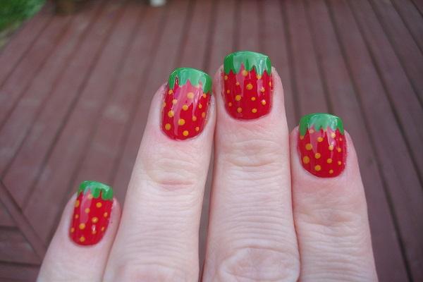 Strawberry Manicure