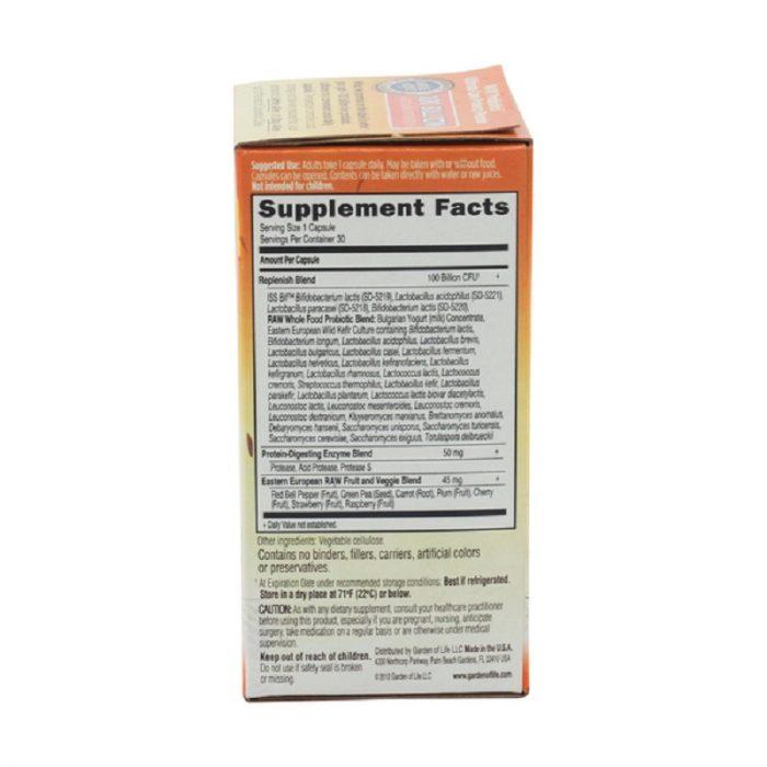 Ultimate Care Raw Probiotic Vegetarian Capsules, 100B, 30 capsules